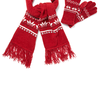 Red Snowflake Chenille Scarf and Glove Set