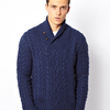 Polo Ralph Lauren Jumper in Cable Knit Shawl Neck