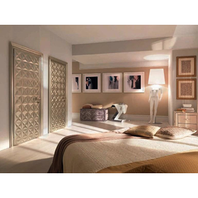 Silver leaf Wooden door Diamond Collection by Bizzotto | design Tiziano Bizzotto