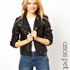 ASOS PETITE Exclusive Leather Biker Jacket