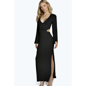 Natasha Split Front Cut Away Maxi Dress