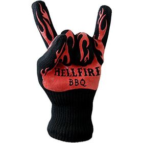 HellFire BBQ Gloves are Flame & Heat Resistant to 666F