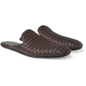 PRODUCT - Bottega Veneta - Intrecciato Leather Slippers - 400159 | MR PORTER
