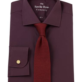 Burgundy End on End Slim Fit Shirt