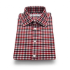Exclusive Brushed Cotton Shirt in Red and White Check