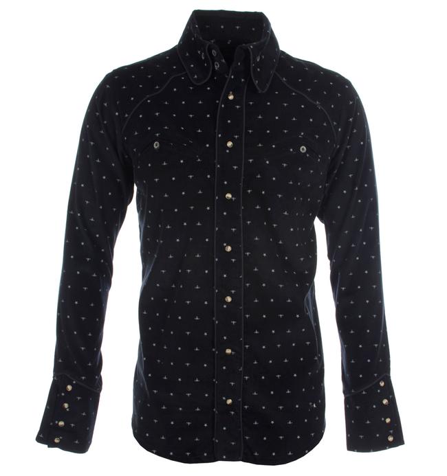 Vivienne Westwood Anglomania Western Krall Navy Corduroy Shirt