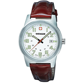 Wenger Field Classic Men's Quartz Watch with White Dial Analogue ...