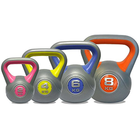 DKN Vinyl Kettle Bell Weight Set - Multi-Colour, 2 - 8 kg