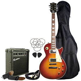 Rockburn LP Style Guitar Package - Sunburst