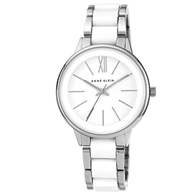 Anne Klein Women's Quartz Watch with White Dial Analogue Display ...