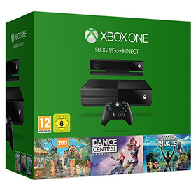 Xbox One Console with Kinect & 3 Games