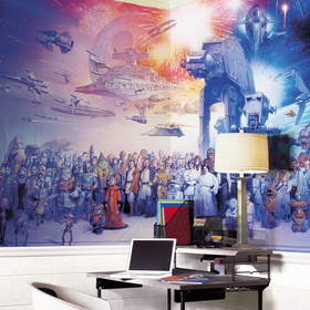 Star Wars Ensemble Wall Mural by Retro Planet - $155