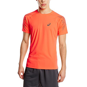 Asics Men's Short Sleeve Stripe Top