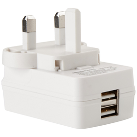 AmazonBasics Dual-Port USB Wall Charger - 2.1 A