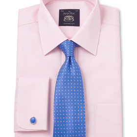Pink Luxury Herringbone Classic Fit Shirt