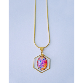 Herschel Vintage Fire Opal Necklace