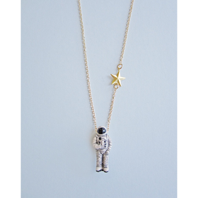 I Just Need Some Space, Man Astronaut Necklace