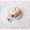 Scented Strawberry Pop Tart Charm-Bitten Miniature food jewelry