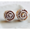 Scented Cinnamon Roll Earrings Miniature Food Jewelry