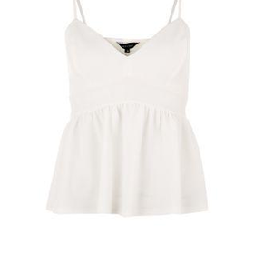 Cream Strappy Peplum Top