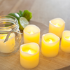6 Wax Battery Votive Tea Light Candles