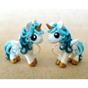 CUSTOM listing for Meinewenigkeit - Petrol Teal Pony Earrings