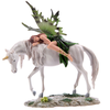 Green Woodland Fairy on Unicorn Home Decoration