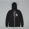 The Quiet Life QL Zip Up Hooded Sweatshirt - Black