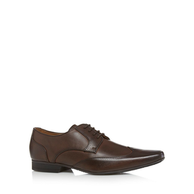 The Collection Chocolate wingtip shoes