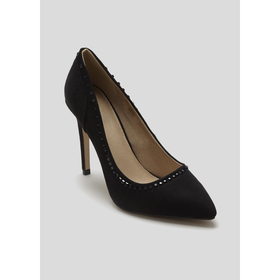 Wide Fit Pointed Court Shoe
