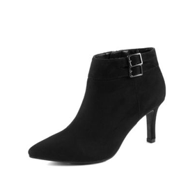 Stiletto High Heel Double Buckle Shoe Boots with Insolia®