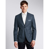 Notch Lapel 2 Button Textured Jacket