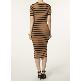 rust stripe bodycon