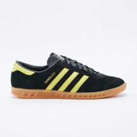 Adidas Originals Hamburg Trainers in Black and Yellow
