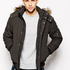 Hilfiger Denim Parka with Faux Fur Trim | ASOS