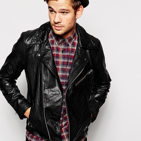 Selected Premium Leather Biker Jacket | ASOS