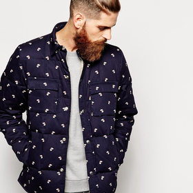 Penfield Loring Down Overshirt with Hound Print | ASOS