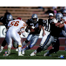Save Big on this Bo Jackson Signed Rushing Against Chiefs H...