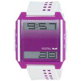 Vestal Unisex Digichord Ultra Thin White and Purple Watch