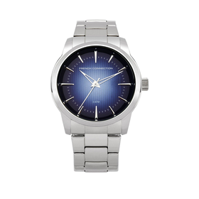 French Connection Blue Dial Stainless Steel Bracelet Mens Watch