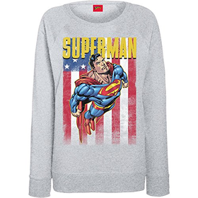 DC Comics Women's DC Superman Flight Sweatshirt
