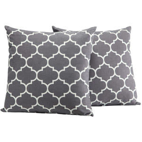 Walmart: Dorel Home Products Accent Pillows, Set of 2, Gray Trellis
