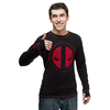Deadpool Distressed Thermal with Thumb Holes