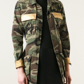 Saint Laurent Camouflage Military Jacket - Donne Concept Store - Farfetch.com