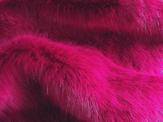 Super Luxury Faux Fur Fabric Material - SWISS MAGENTA  1cd24e553