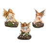 Solar Powered Flower Sitting Garden Fairy Statues