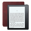 Kindle Oasis with Merlot Leather Charging Cover, 6'' Display, Built-in Light, Wi-Fi