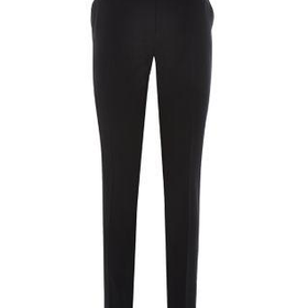 Black Stretch Slim Leg Belted Trousers