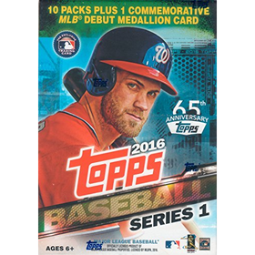 2016 Topps MLB Baseball Series #1 Box of Packs with EXCLUSIV...