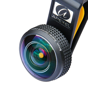 Apexel Super Wide Angle Fisheye Lens Kit with Lanyard for iPhone/...